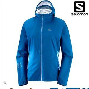 Salomon Womens Lightning WP Run Jacket Poseidon